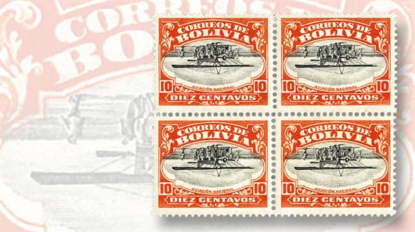 1924-bolivia-10-centavo-vermilion-black-airmail-stamp