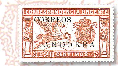 1928-spanish-andorra-20-centimo-pegasus-crest-stamp