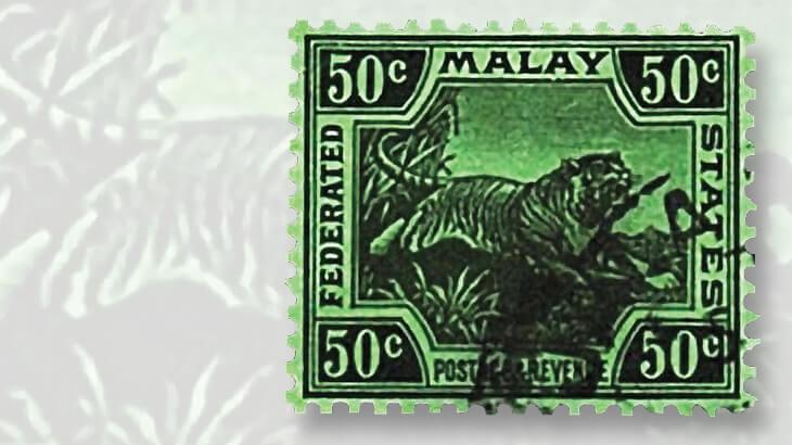 1931-malayan-tiger-stamp-blue-green-paper