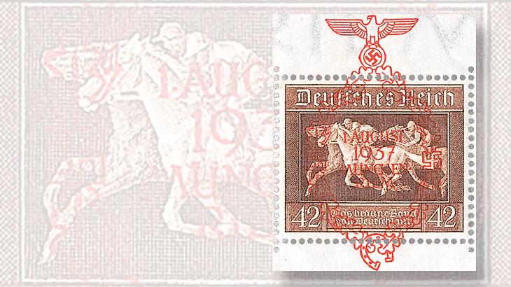 1936-brown-ribbon-overprinted-stamp