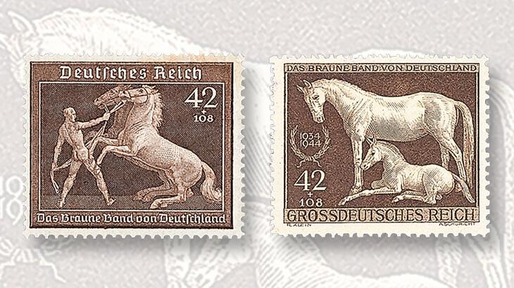1939-1944-brown-ribbon-semipostal-stamps