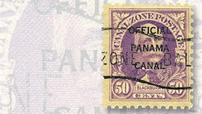 1941-canal-zone-fifty-cent-rose-lilac-joseph-clay-styles-blackburn-official-stamp