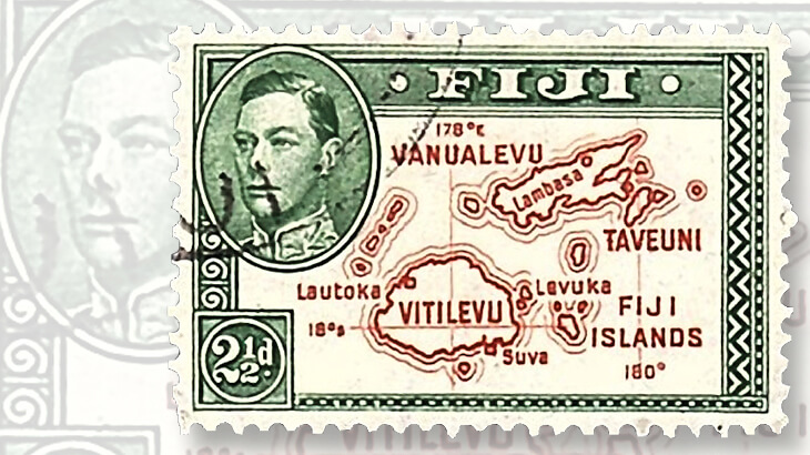 1942-fiji-two-and-a-half-penny-stamp