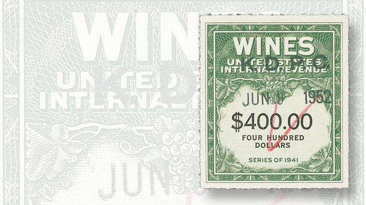 1942-four-hundred-dollar-wine-stamp