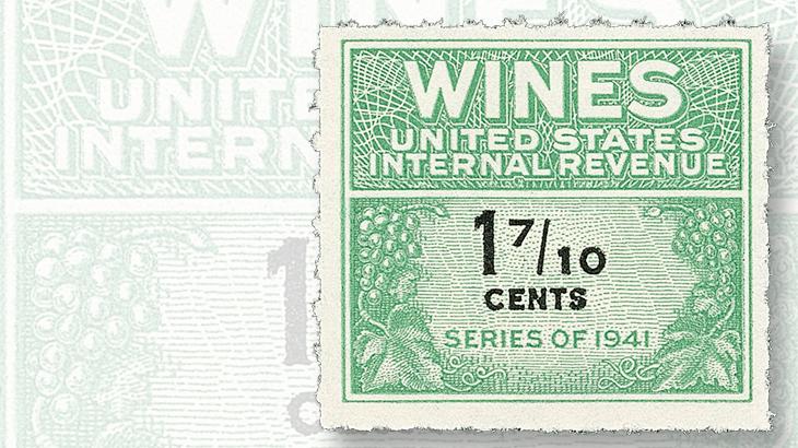 1942-seventeen-cent-wine-stamp