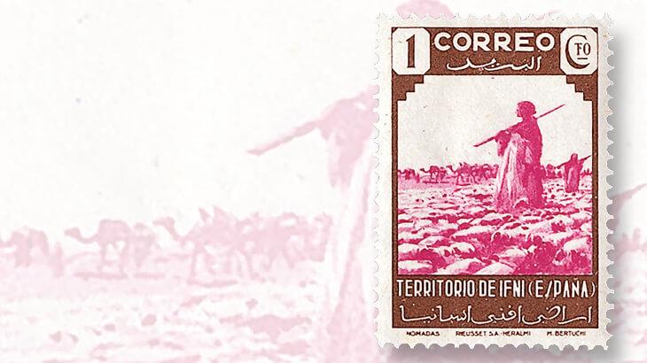1943-ifni-nomadic-peoples-stamp