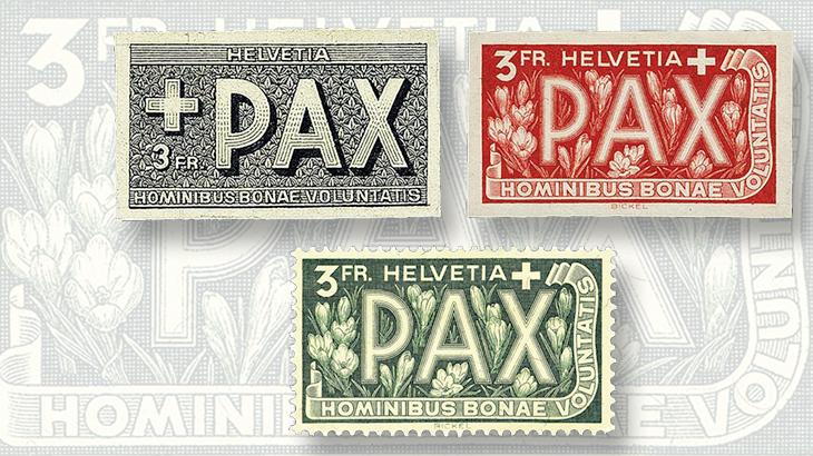 1945-3-franc-stamp