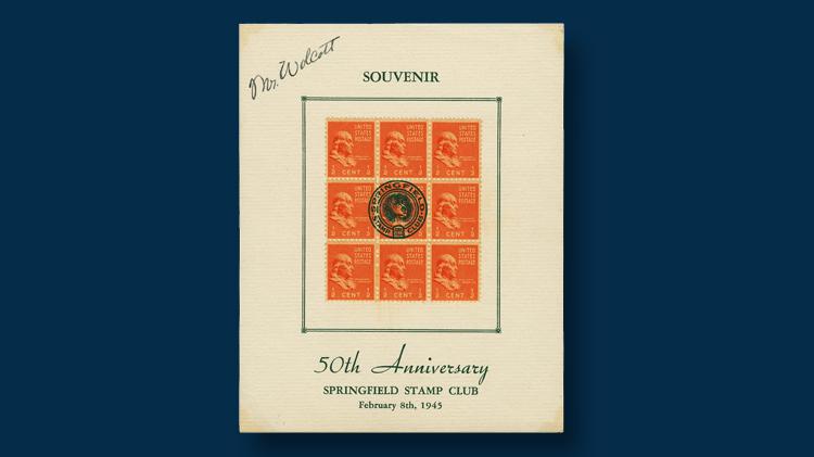 1945-fifty-anniversary-stamp-club-souvenir