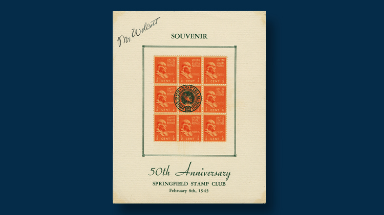 1945-fifty-anniversary-stamp-club-souvenir