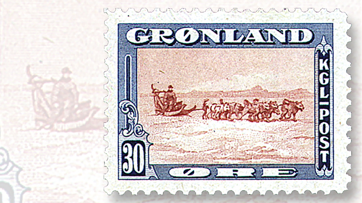1945-greenland-30-ore-stamp