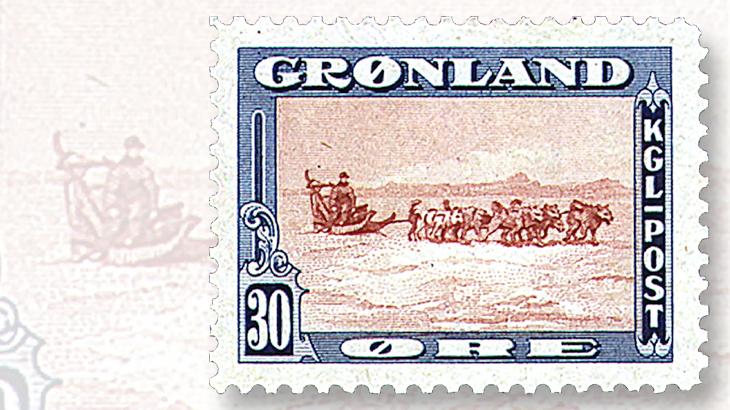 1945-greenland-30-ore-stamp