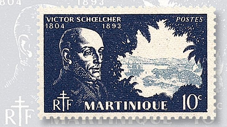 1945-martinique-victor-schoelcher-stamp