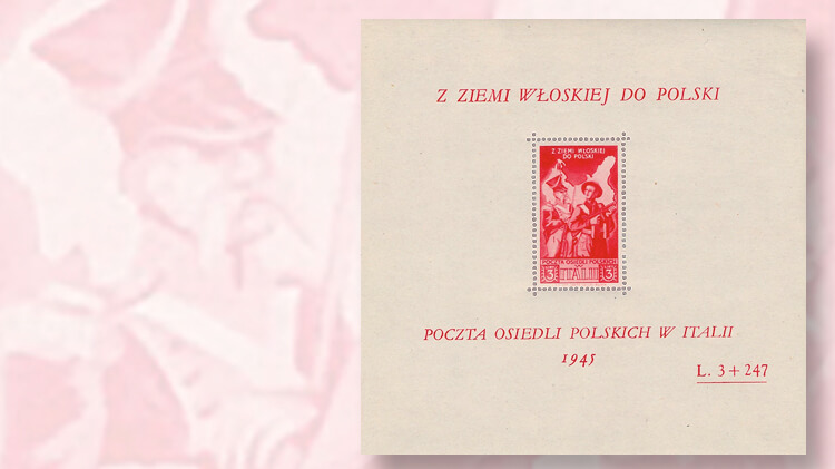 1946-second-corps-exiled-polish-officers-souvenir-sheet