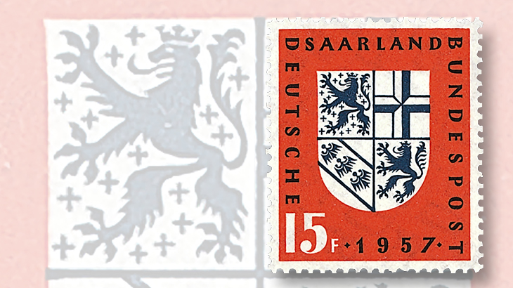1957-saarland-coat-of-arms-stamps