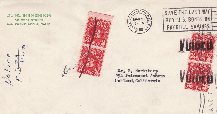 1958-cover-voided-postage-due-stamps