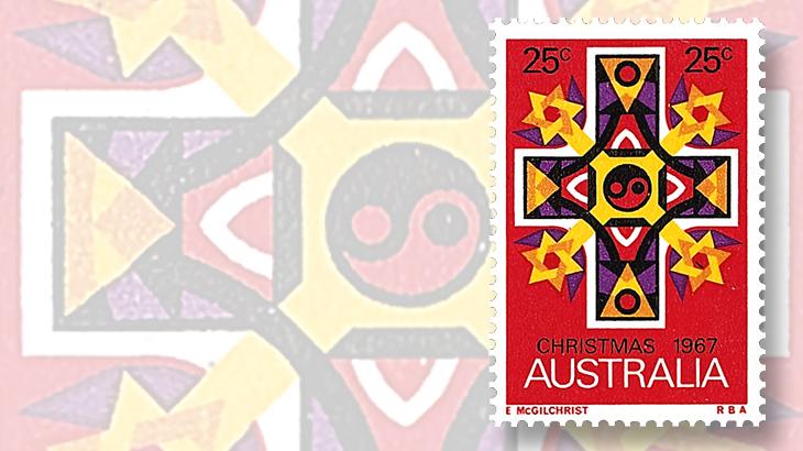 1967-twenty-five-christmas-stamp-stars-of-david-from-australia