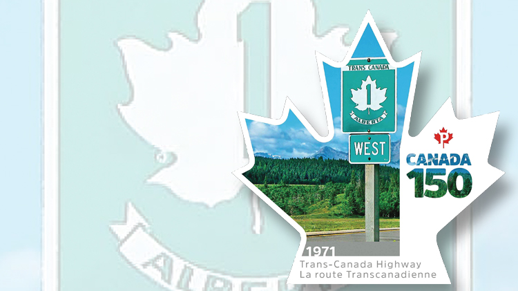1971-trans-canada-highway-maple-leaf-shaped-stamp