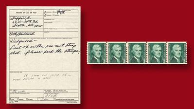1974-telephoned-complaint-five-one-cent-thomas-jefferson-stamps