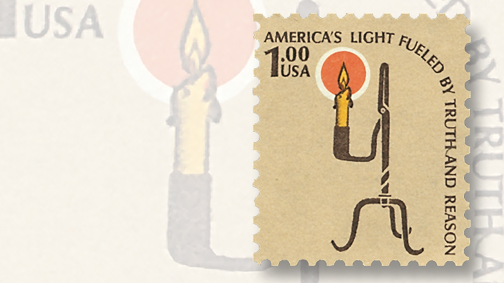 1979-americana-rush-lamp-and-candle-holder-stamp