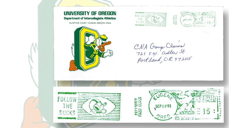 1981-cover-oregon-duck-postage-imprint