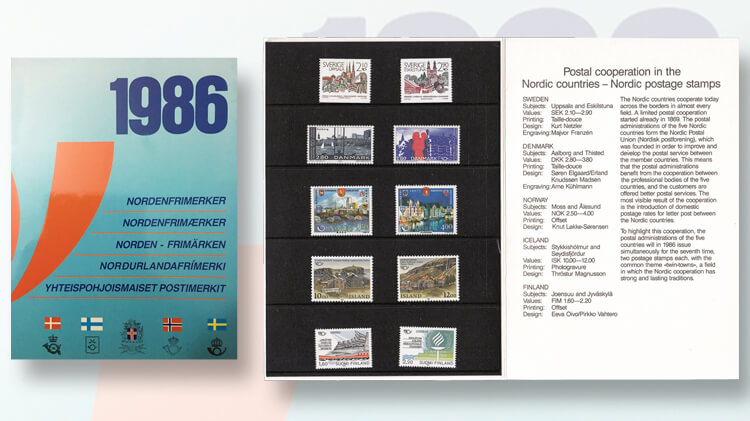 1986-nordic-postal-cooperation-stamps