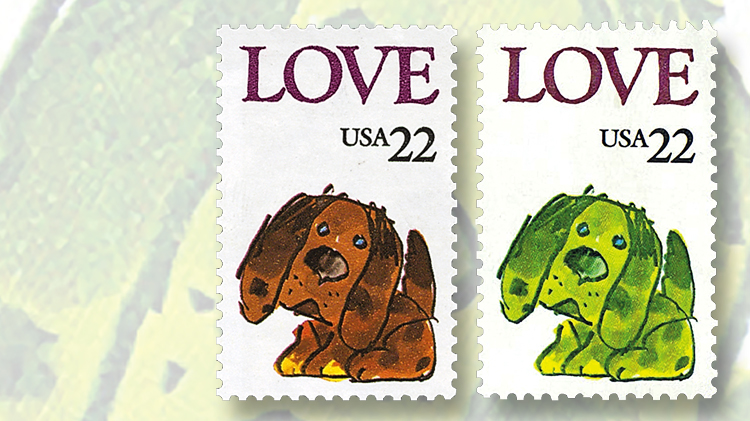 1986-twenty-two-cent-love-stamp-puppy
