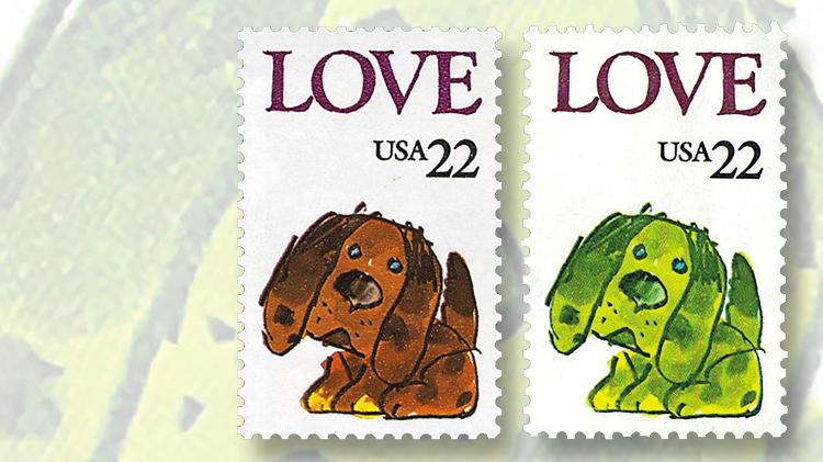 1986-twenty-two-cent-love-stamp-puppy
