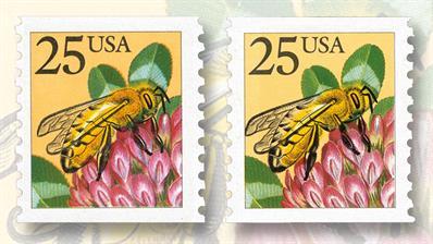 1988-twenty-five-cent-honeybee-coil-stamps