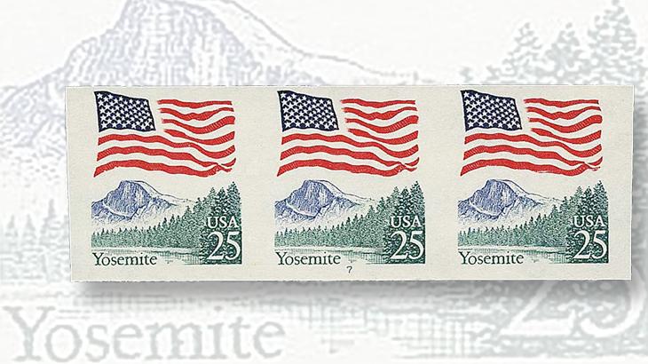1989-twenty-five-cent-flag-over-yosemite