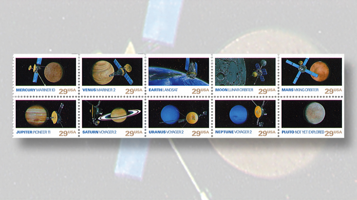 1991-planets-booklet-pane-pluto-not-yet-explored