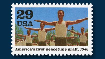 1991-twenty-nine-cent-stamp-peacetime-draft-1940