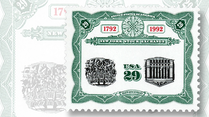 1992-twenty-five-stock-exchange-stamp-invert-error