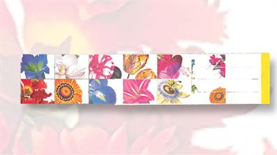 1997-booklet-of-british-flower-stamps