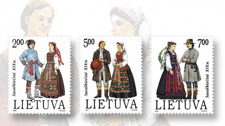 19th-century-traditional-costumes-suvalkija-stamps