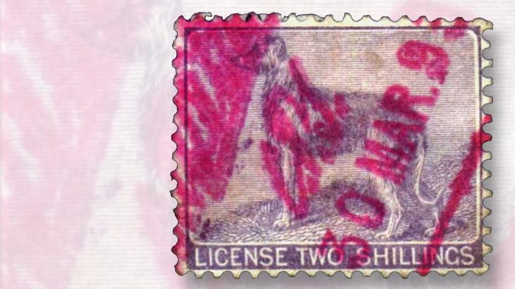2-schilling-dog-irish-dog-owner-tax-stamp