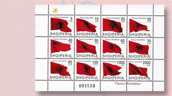 2007-mini-shee-twelve-albanian-flag-stamps
