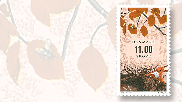 2011-denmark-europa-forests-stamp