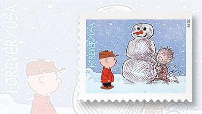 2015-christmas-stamp-charlie-brown-pigpen-snowman