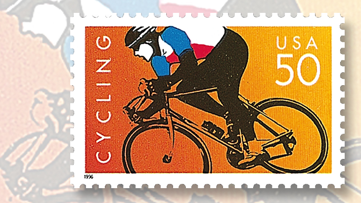 The United States Postal Service Issued Two 50 Stamps For Sport Of Cycling In 1996 Plans Call Cur U S First Cl Letter Rate To Increase