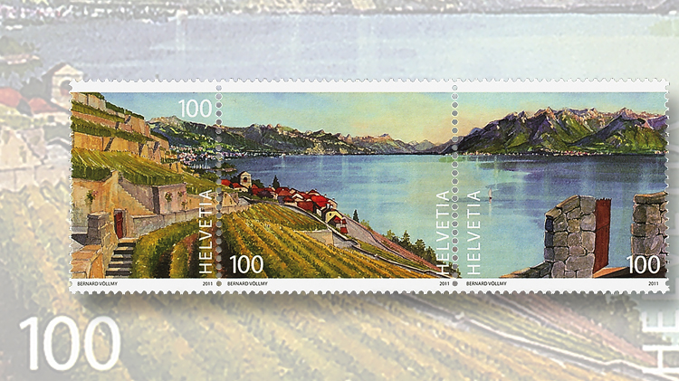 3-2011-swiss-one-franc-stamps-lavaux-vineyard-terraces