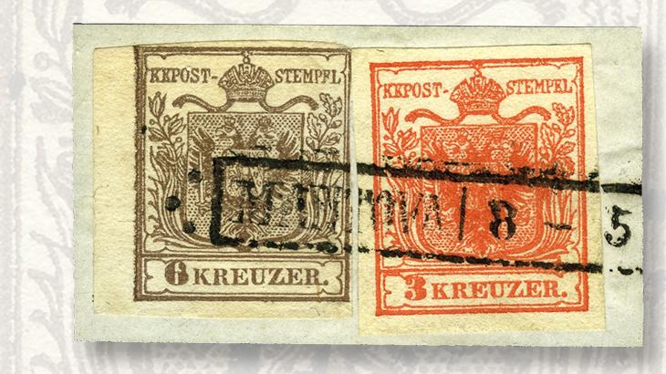 3-kreuzer-red-6kr-brown-stamps
