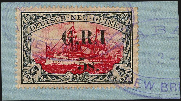 5-shilling-on-5-mark-slate-carmine-stamp