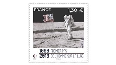 50th-anniversary-manned-moon-landing-france-stamp