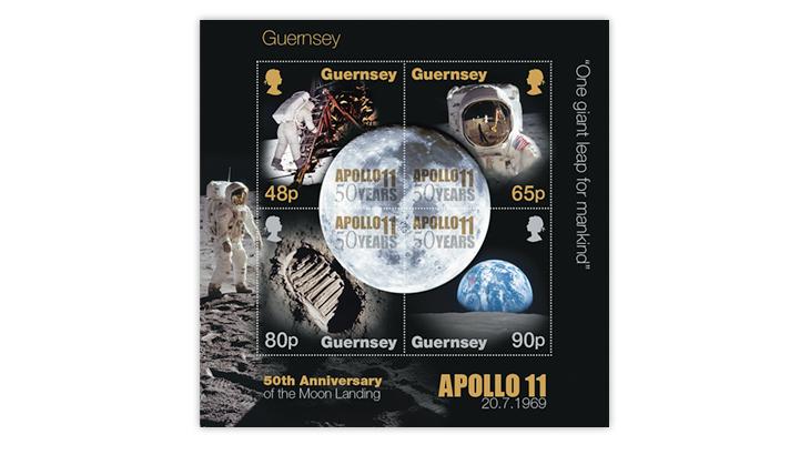 50th-anniversary-manned-moon-landing-guernsey-souvenir-sheet