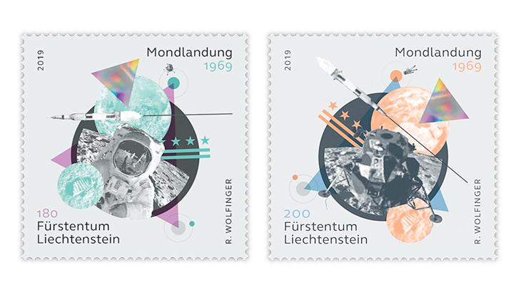 50th-anniversary-manned-moon-landing-liechtenstein-stamps