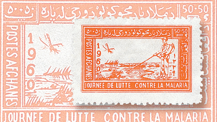 afghanistan-word-health-organization-anniversary-semipostal-stamp-1960