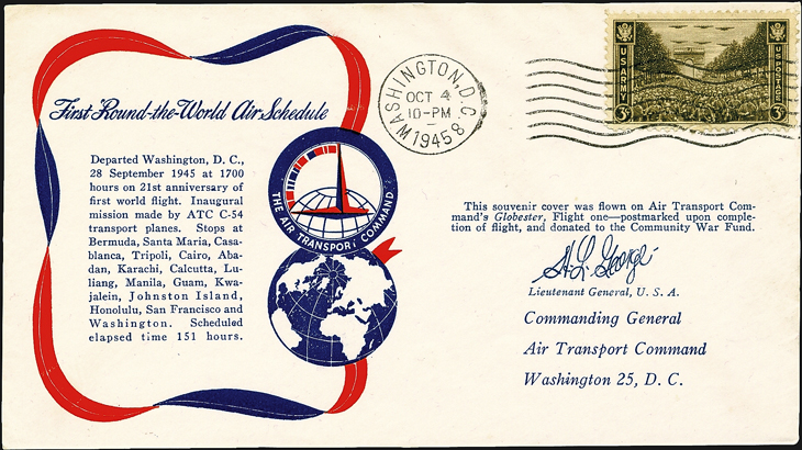 air-transport-command-round-the-world-flight-cover-1945