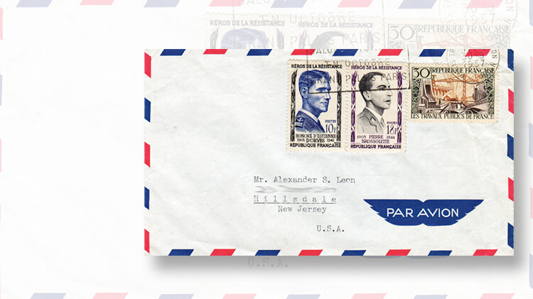 airmail-cover-french-resistance-figure-stamps