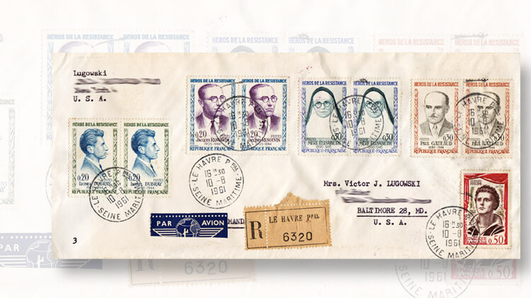 airmail-letter-france-resistance-figure-stamps