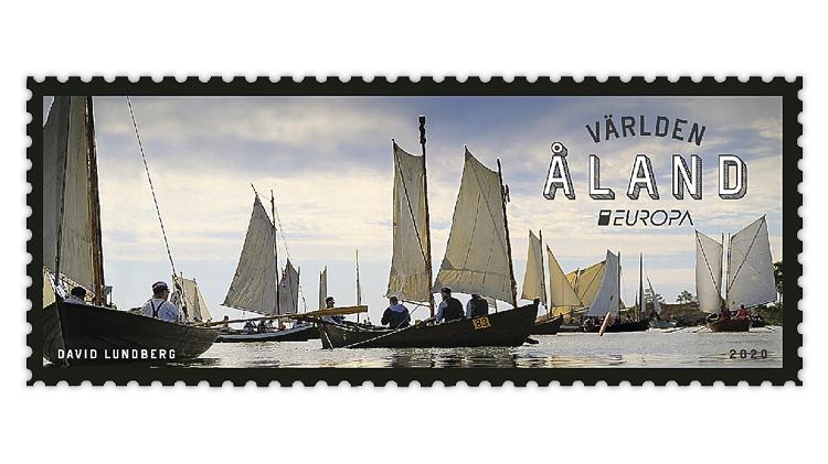 aland-2020-postal-boat-race-europa-stamp